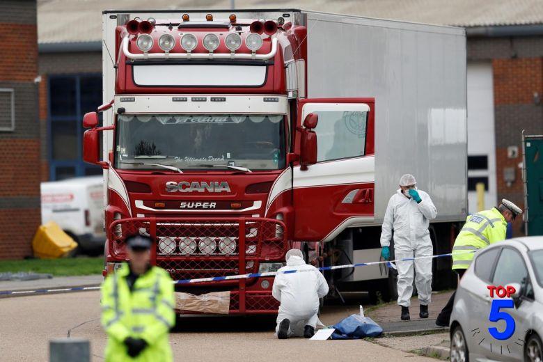 39 người chết trong thùng xe tải tại anh