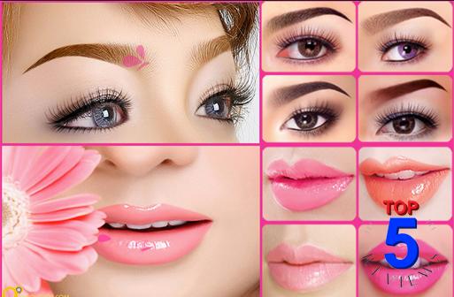 Makeup mắt và môi