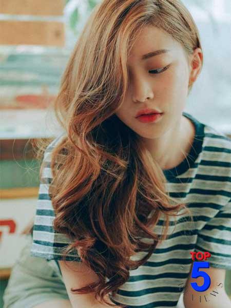 Tóc nữ đẹp mái lệch
