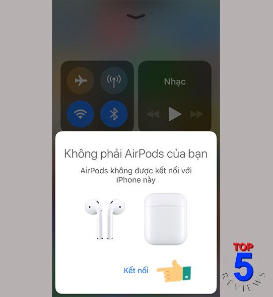 Lỗi tai nghe Airpods hông thể ghép nối với điện thoại