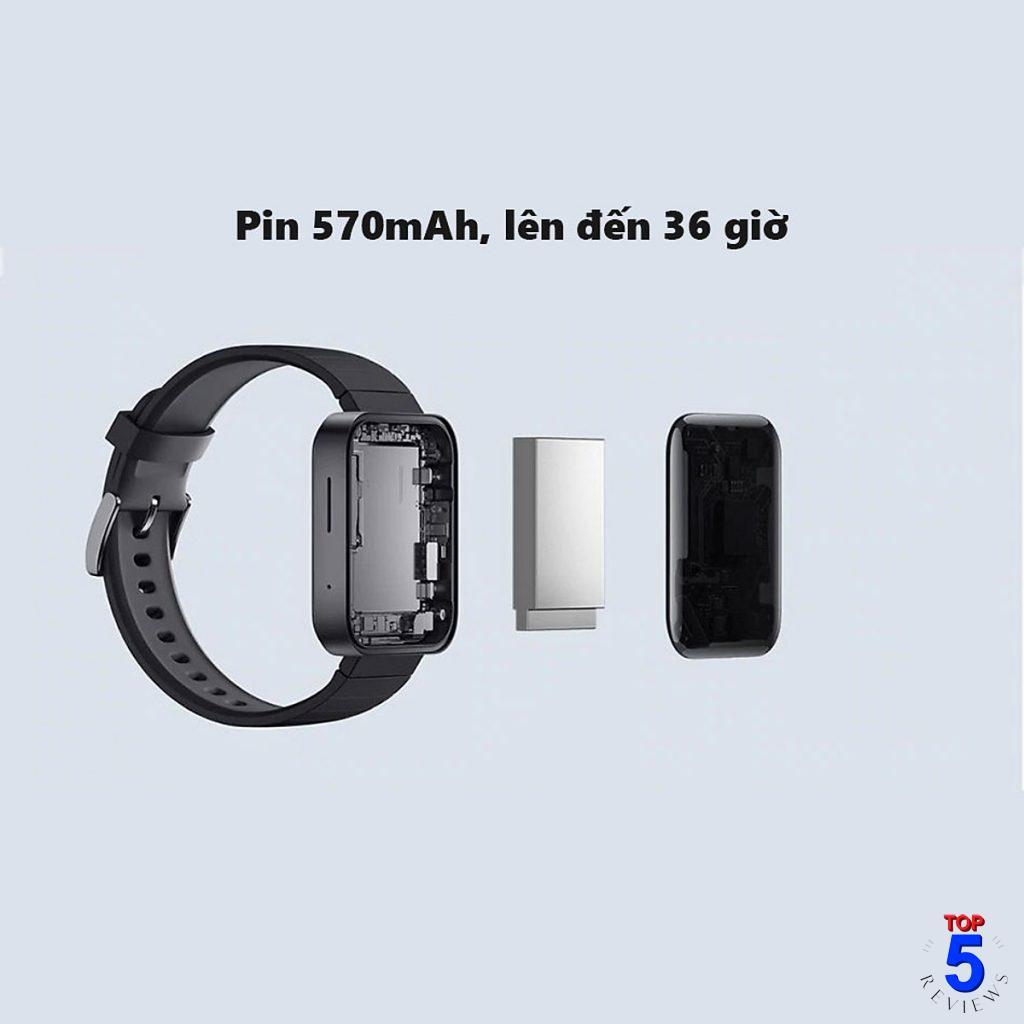 Thời lượng pin lớn trên Xiaomi Mi Watch
