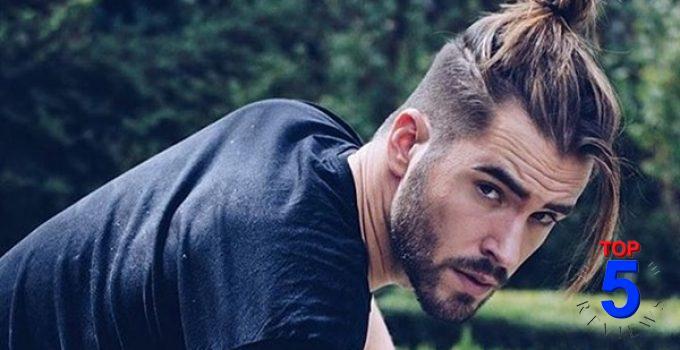 Kiểu tóc nam búi cao cho mặt dài
