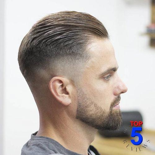Tóc nam đẹp cho mặt dài và gầy – Slicked Back