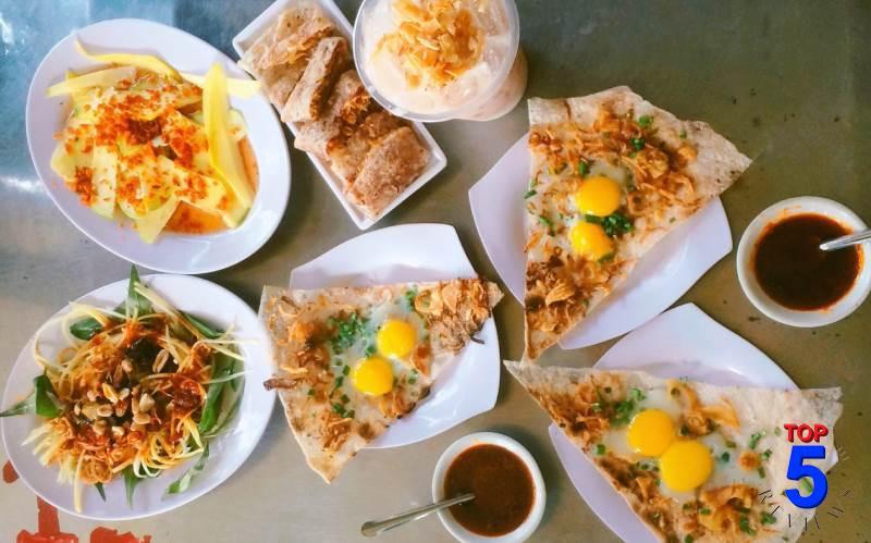 Bánh tráng kẹp dì Hoa - ăn vặt đà nẵng