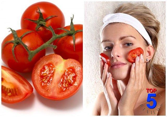 mặt nạ cà chua trị mụn đầu đen