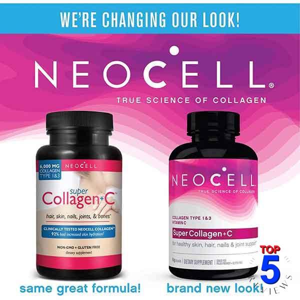 Collagen tươi của Mỹ Neocell collagen +C