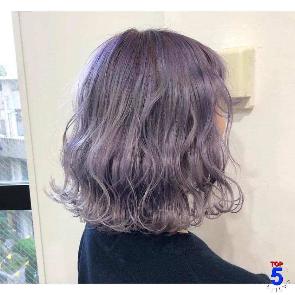 Màu tóc tím khói