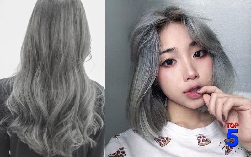 Màu tóc xám khói