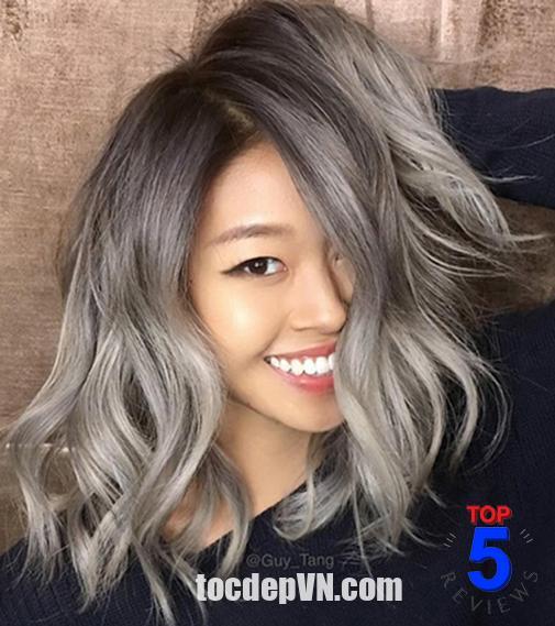 Màu tóc xám tro