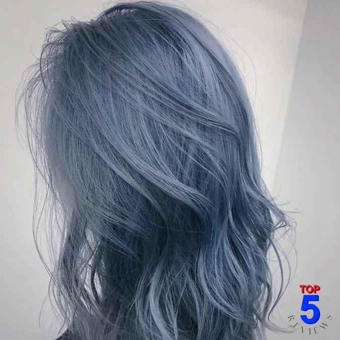 Màu tóc xanh khói