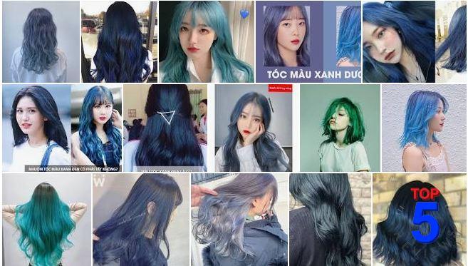 Màu tóc xanh