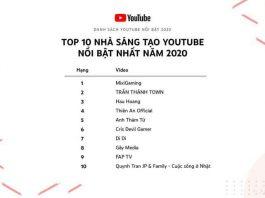 10 YouTuber nổi bật nhất Việt Nam 2020