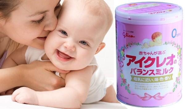 Sữa cho trẻ biếng ăn Glico số 0