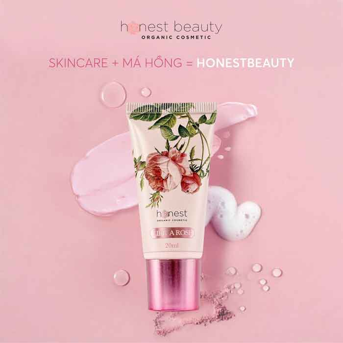 Kem tạo má hồng tự nhiên Honest Beauty Like A Rose