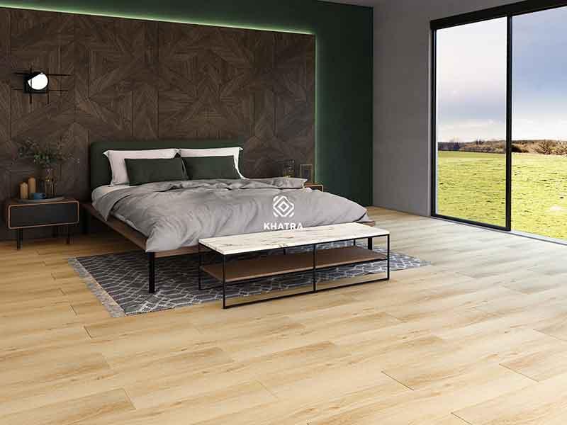 Gạch vân gỗ KHA-207 (200x1000) lát nền phòng ngủ