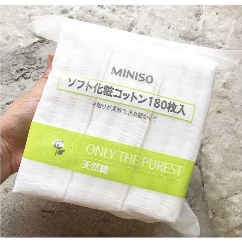 Bông tẩy trang Miniso 180 miếng