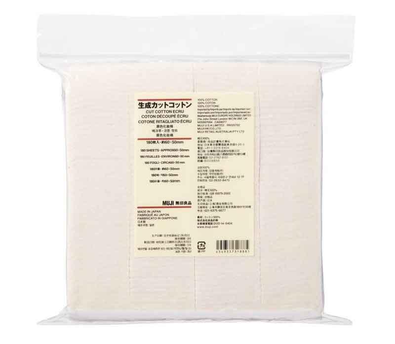 Bông tẩy trang Muji Organic Cotton