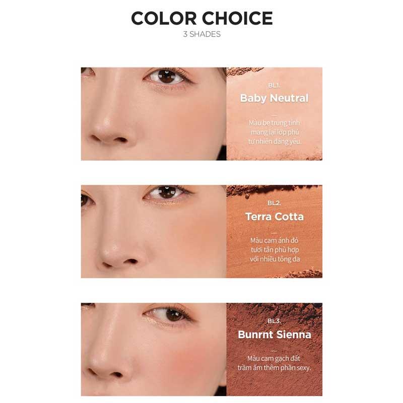 3 shade màu dễ dùng, màu BL3 còn được đánh giá là bản dupe của Mac Burnt Pepper nhưng phiên bản Merzy mang tông đất nhiều hơn